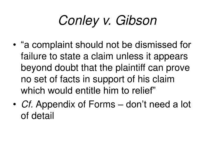 Conley v. Gibson