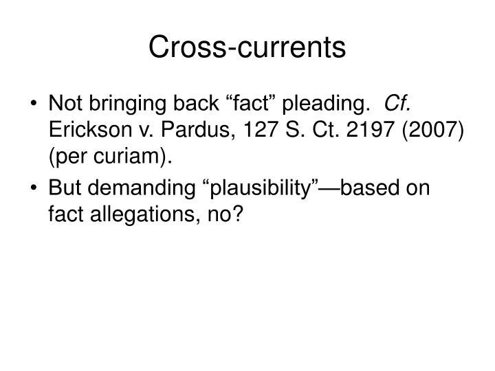 Cross-currents