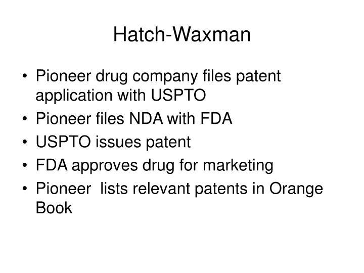 Hatch-Waxman