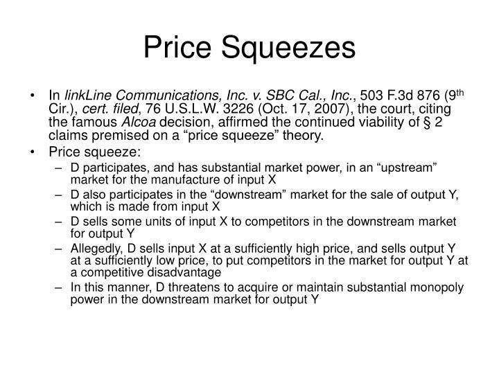Price Squeezes