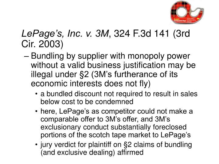 LePage's, Inc. v. 3M