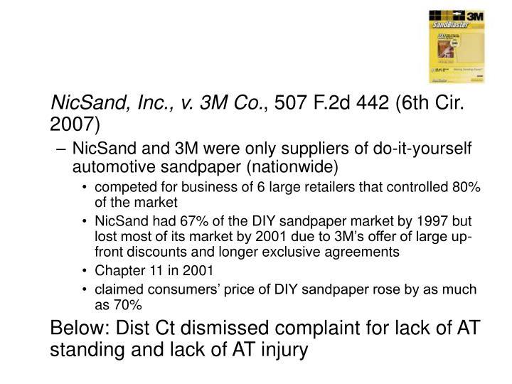 NicSand, Inc., v. 3M Co.