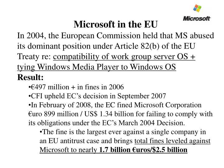 Microsoft in the EU