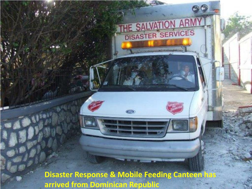 Disaster Response & Mobile Feeding Canteen has arrived from Dominican Republic