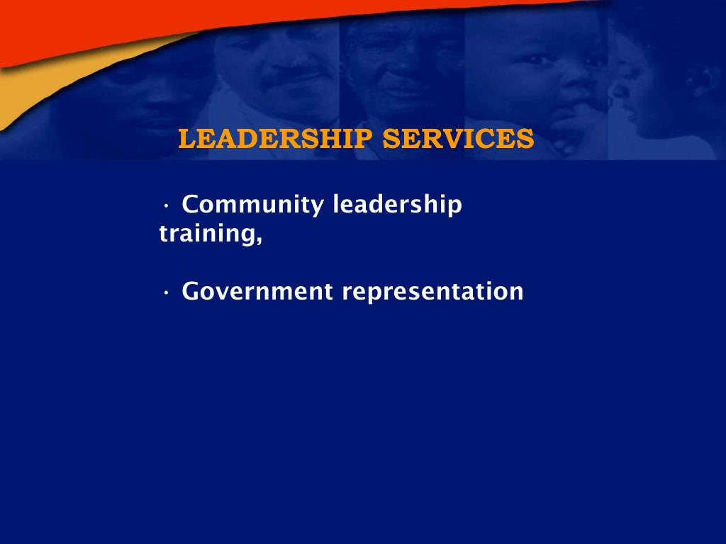 LEADERSHIP SERVICES
