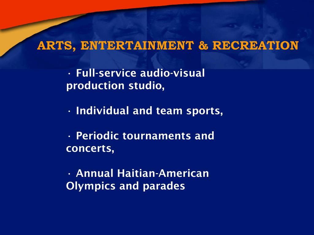 ARTS, ENTERTAINMENT & RECREATION