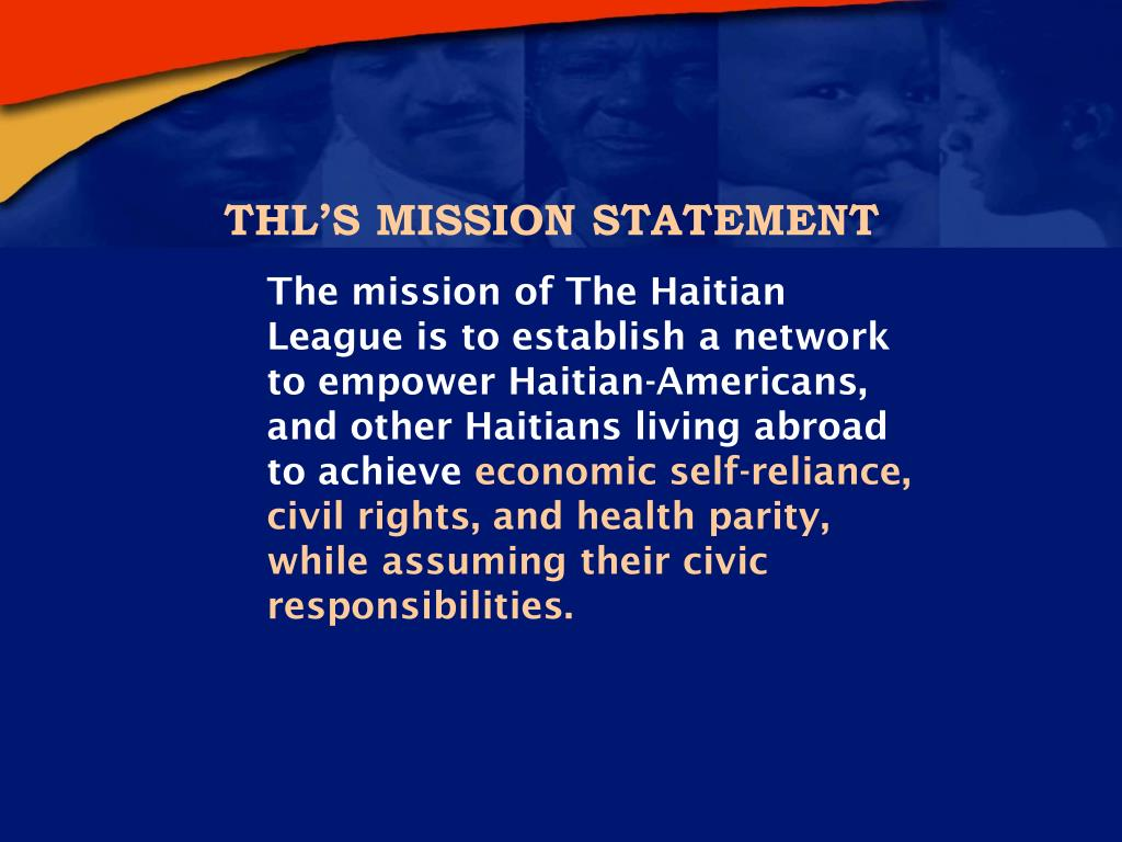 THL'S MISSION STATEMENT