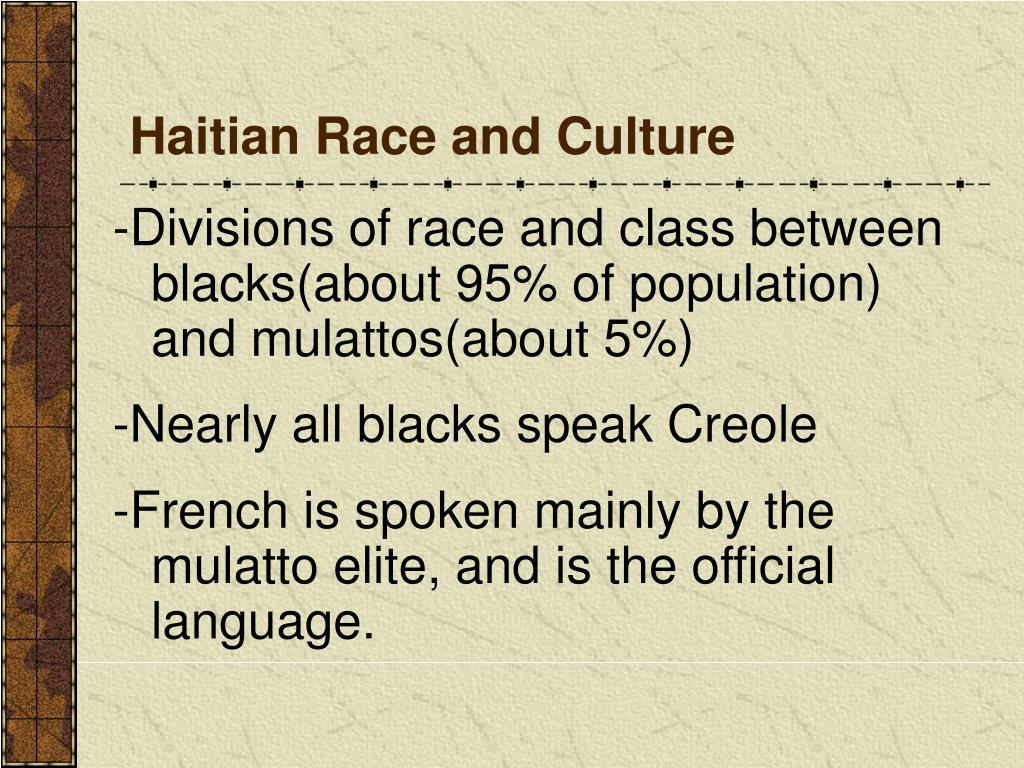 Haitian Race and Culture