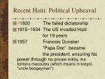 recent haiti political upheaval