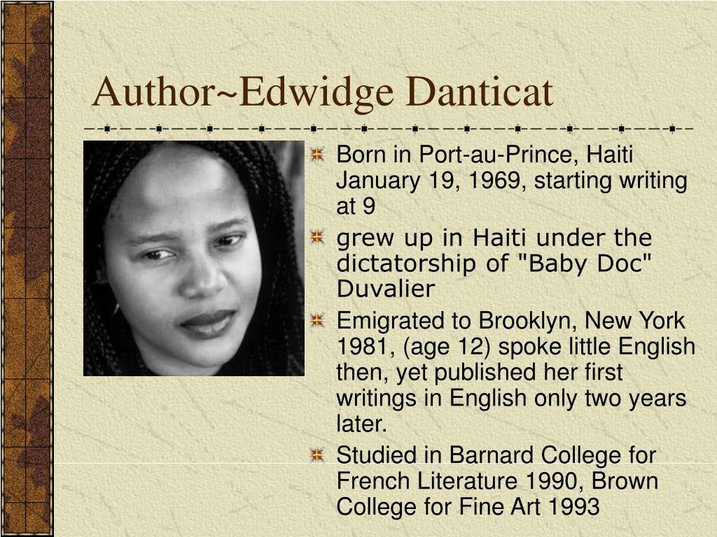 Author~Edwidge Danticat