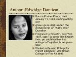 author edwidge danticat