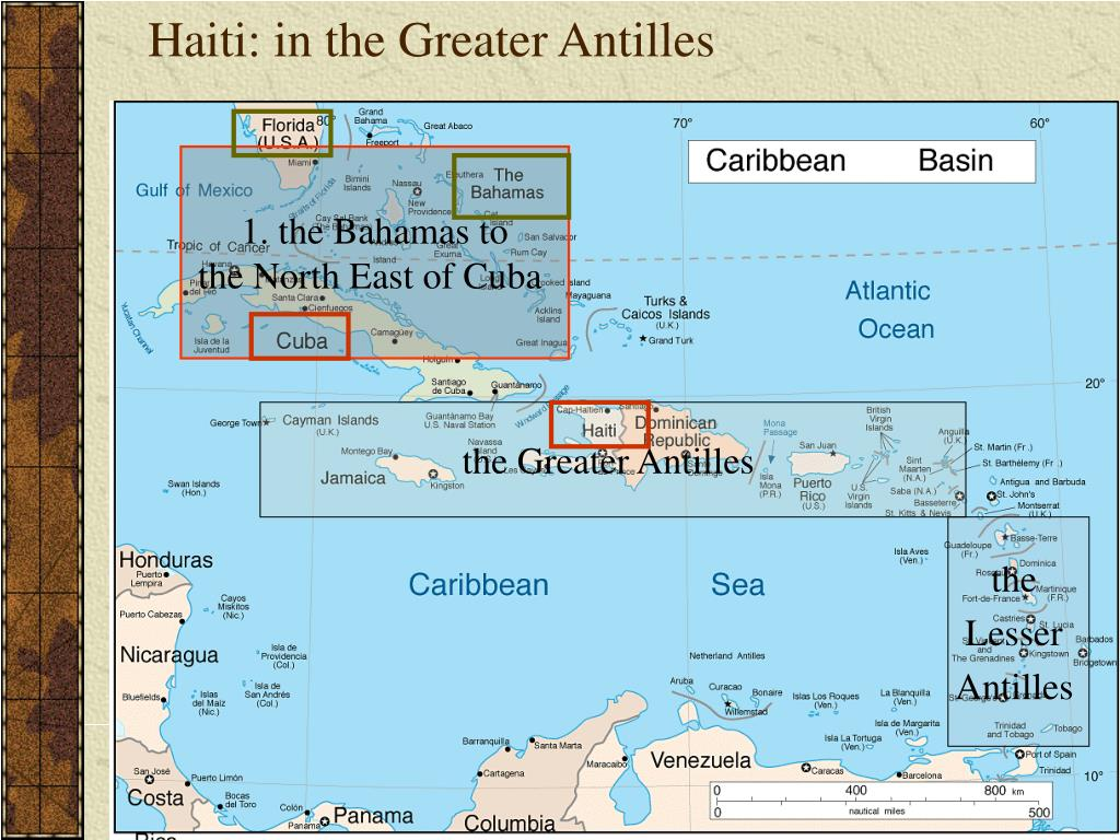 Haiti: in the Greater Antilles