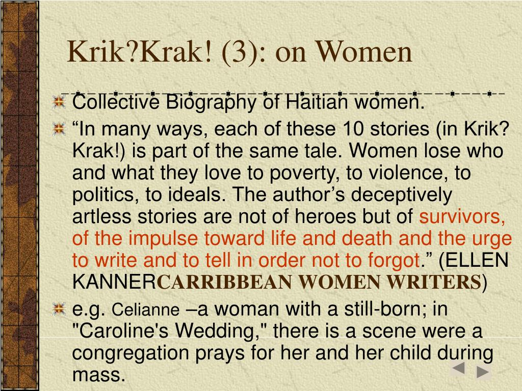 Krik?Krak! (3): on Women