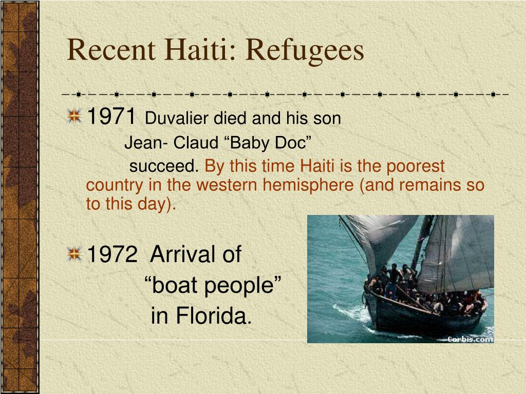 Recent Haiti: Refugees