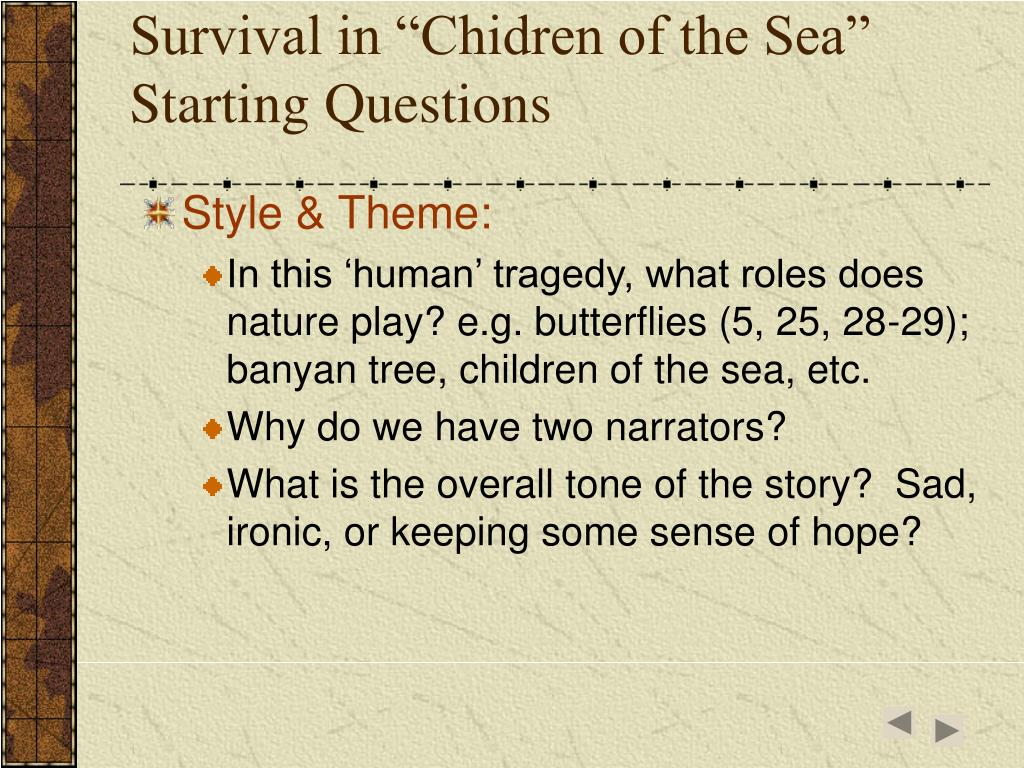 "Survival in ""Chidren of the Sea"""