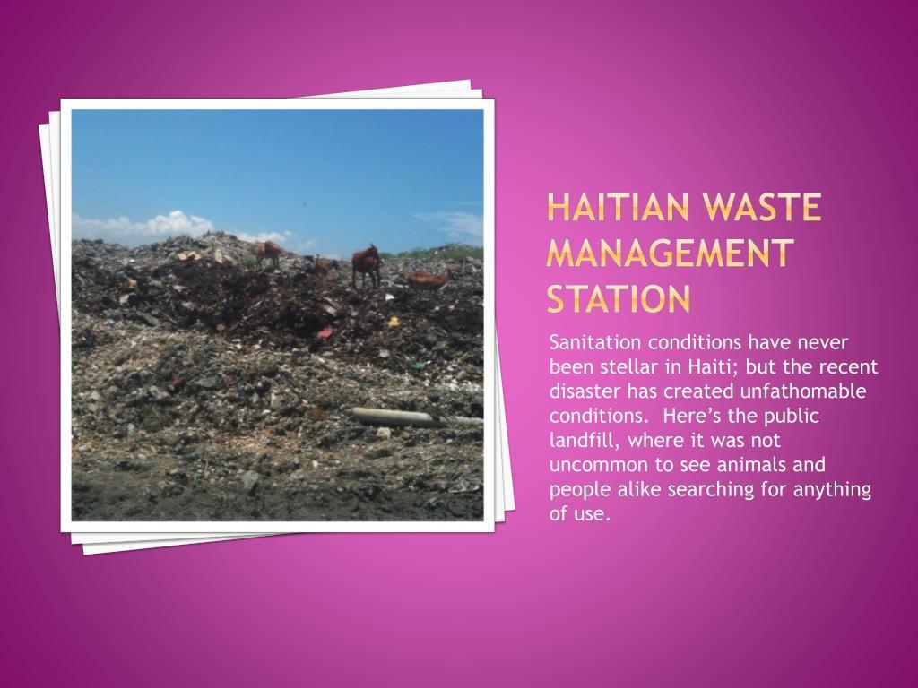 Haitian waste management station