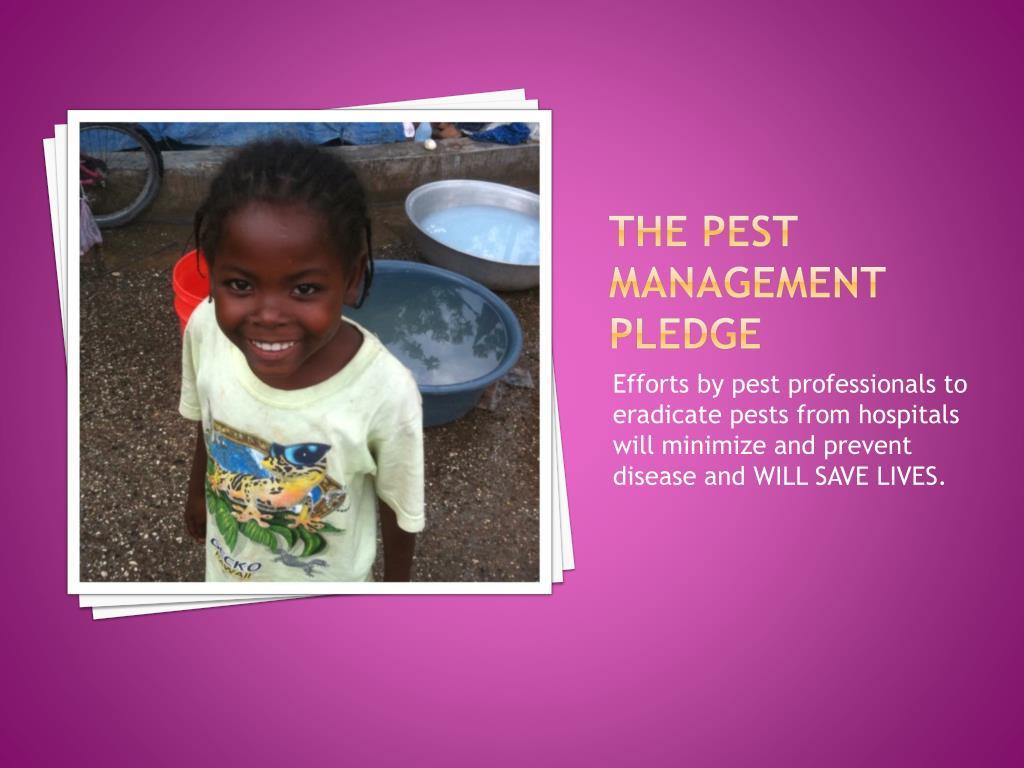 The Pest Management Pledge