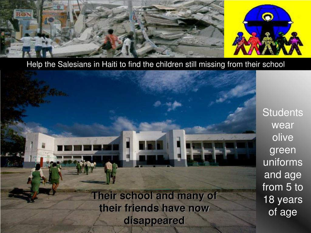 Help the Salesians in Haiti to find the children still missing from their school