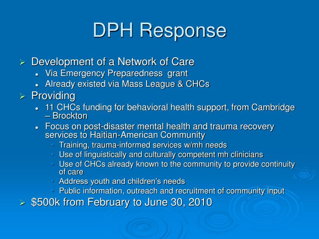 DPH Response