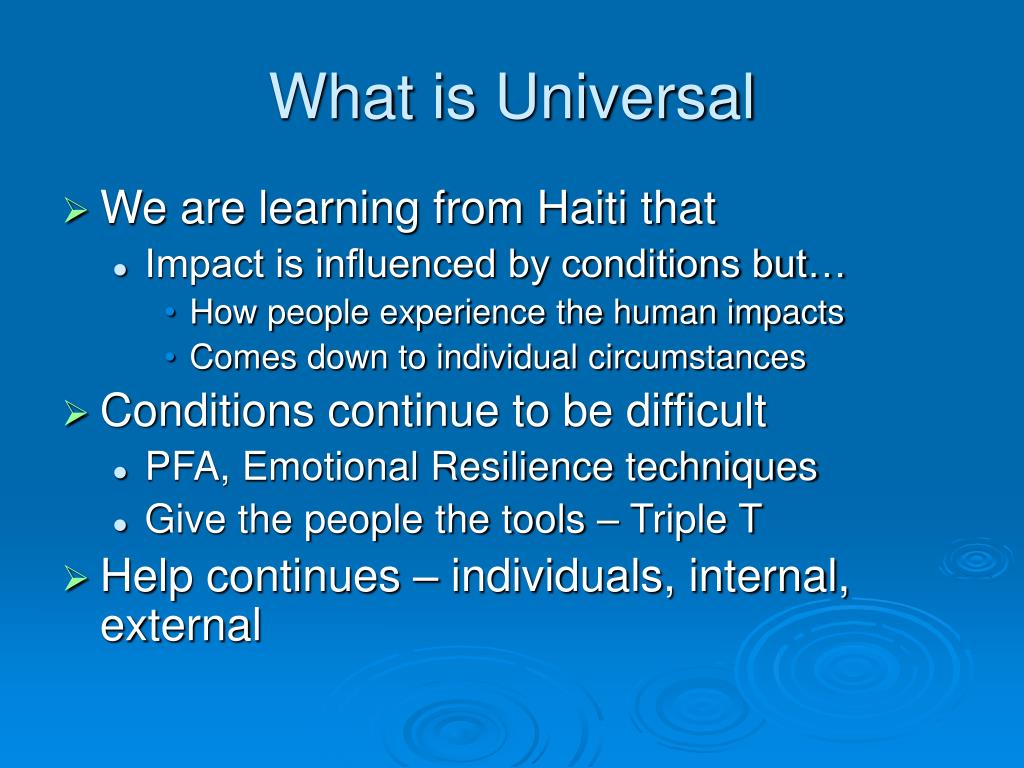 What is Universal