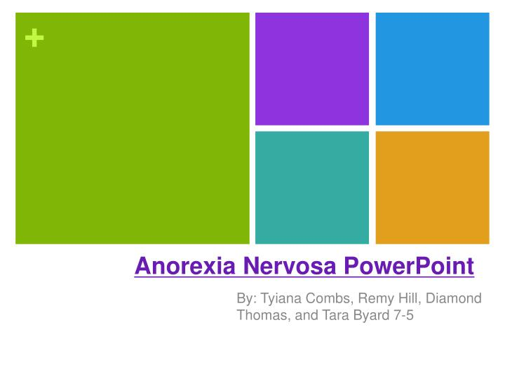 Anorexia nervosa powerpoint