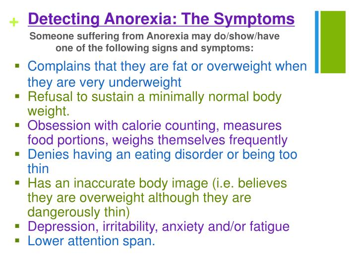 Detecting Anorexia: The Symptoms