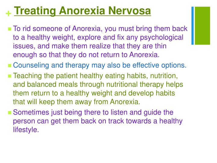 Treating Anorexia Nervosa