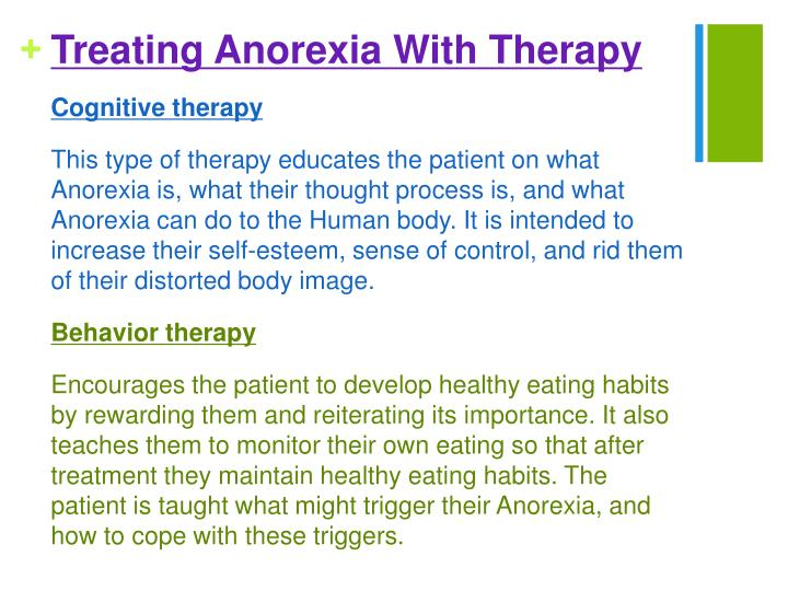 Treating Anorexia With Therapy