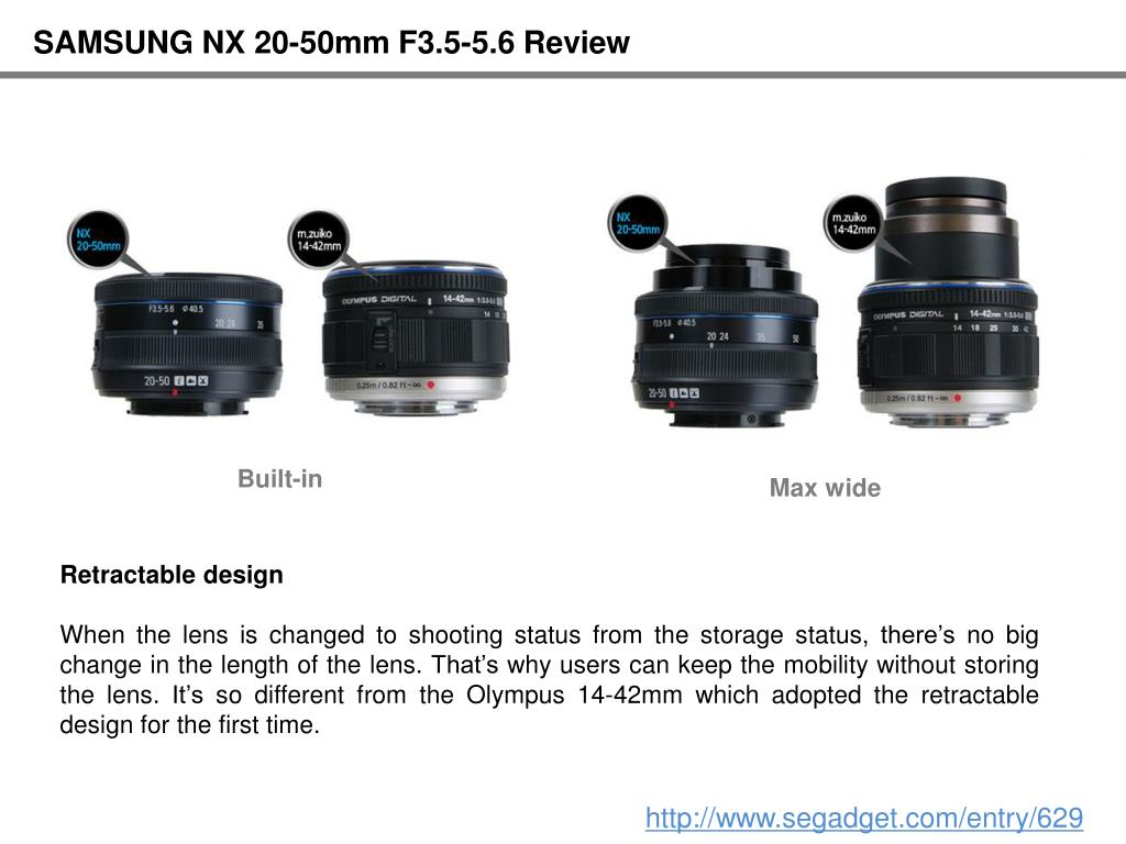 SAMSUNG NX 20-50mm F3.5-5.6 Review