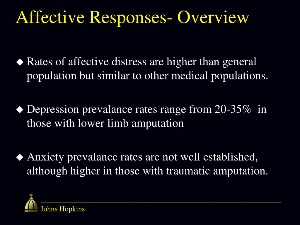 Affective Responses- Overview