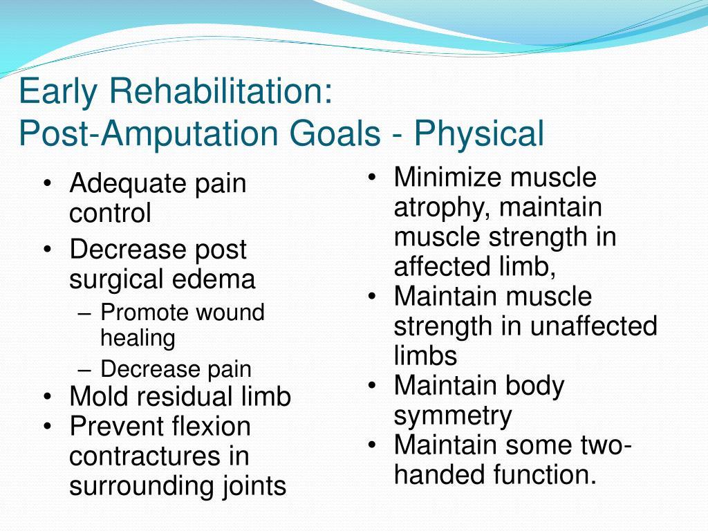 Early Rehabilitation: