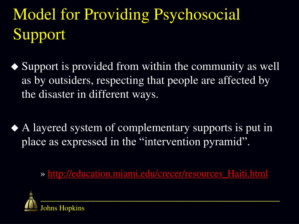 Model for Providing Psychosocial Support