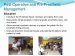post operative and pre prosthetic management54