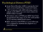 psychological distress ptsd