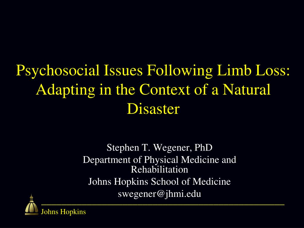 Psychosocial Issues Following Limb Loss: