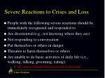 severe reactions to crises and loss