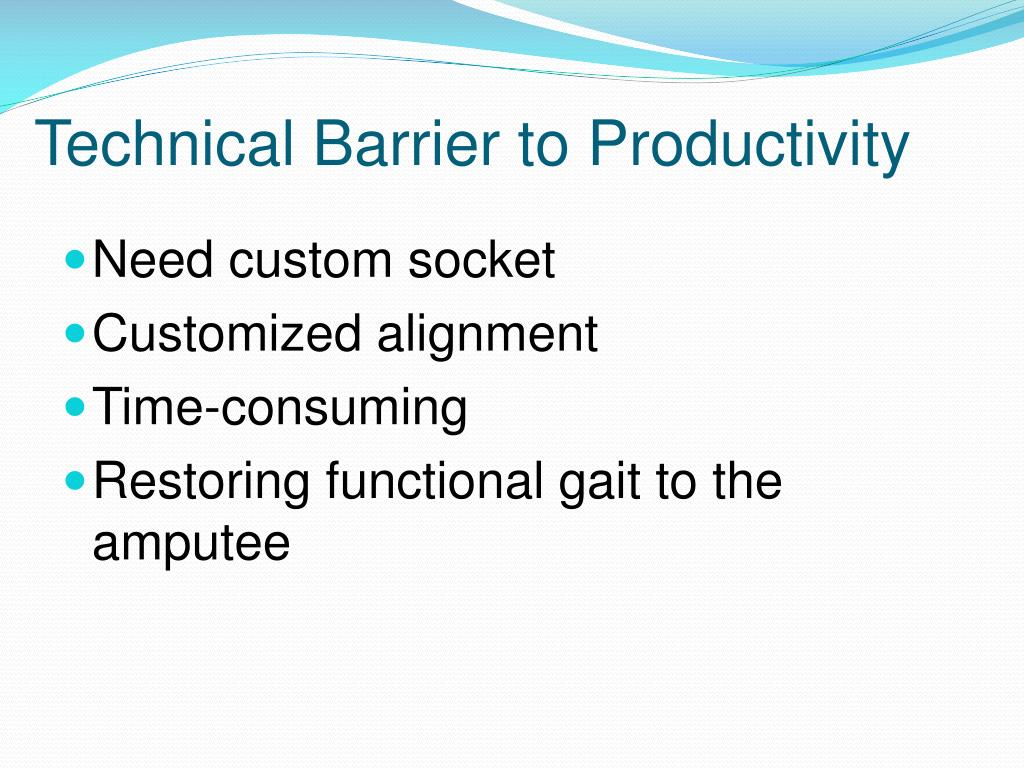 Technical Barrier to Productivity