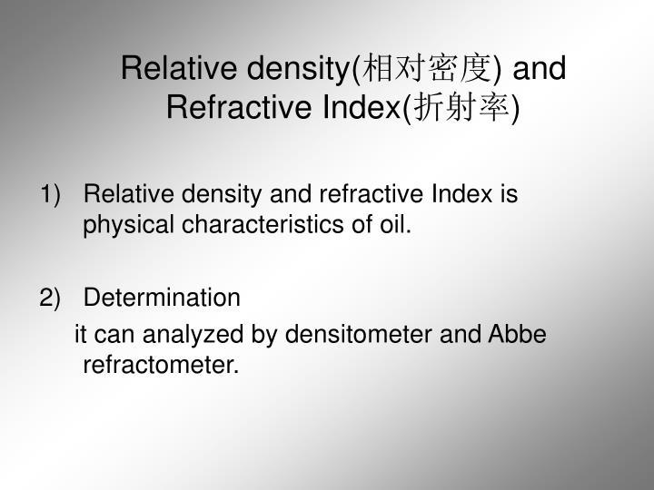 Relative density(