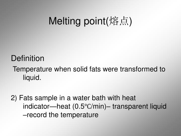 Melting point(