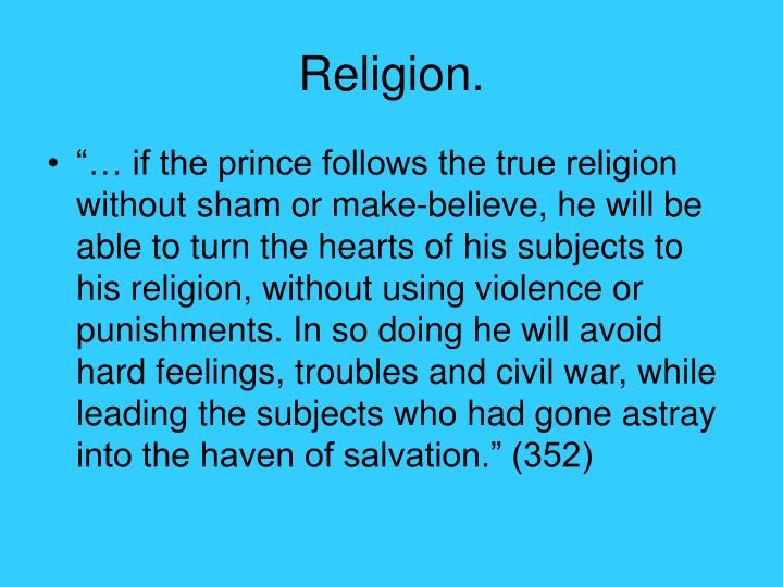 Religion.