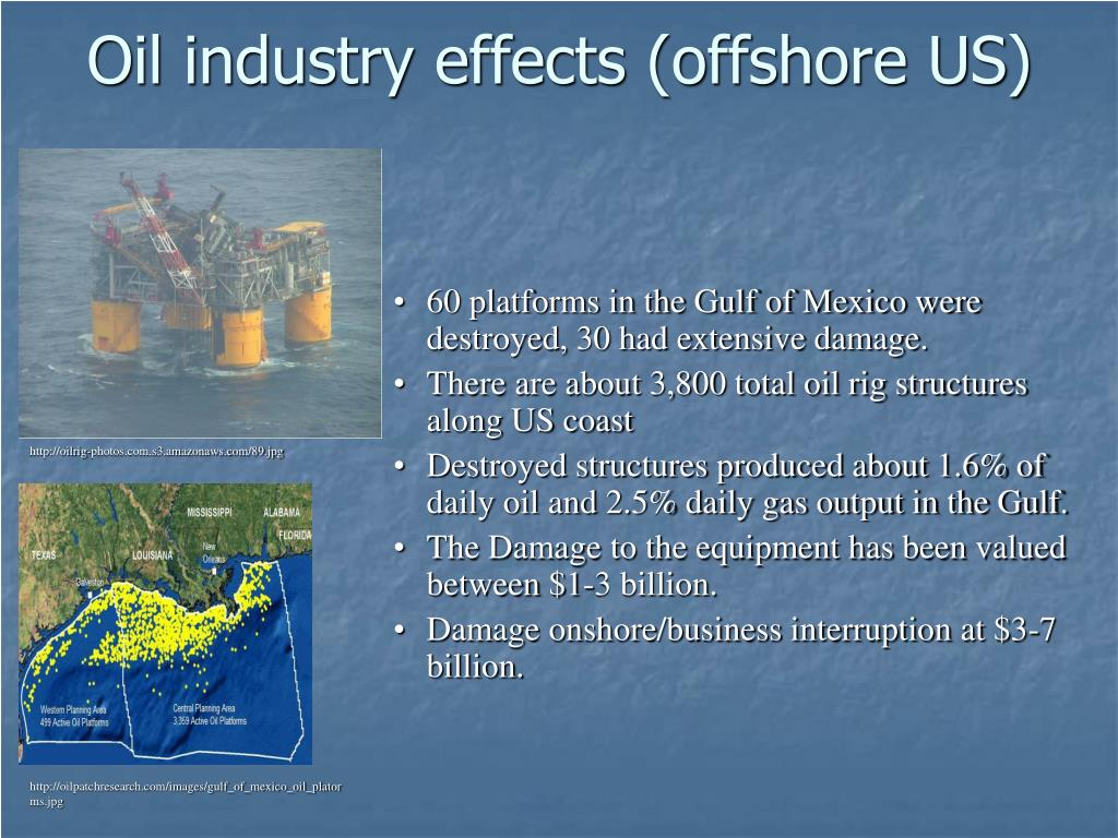 Oil industry effects (offshore US)