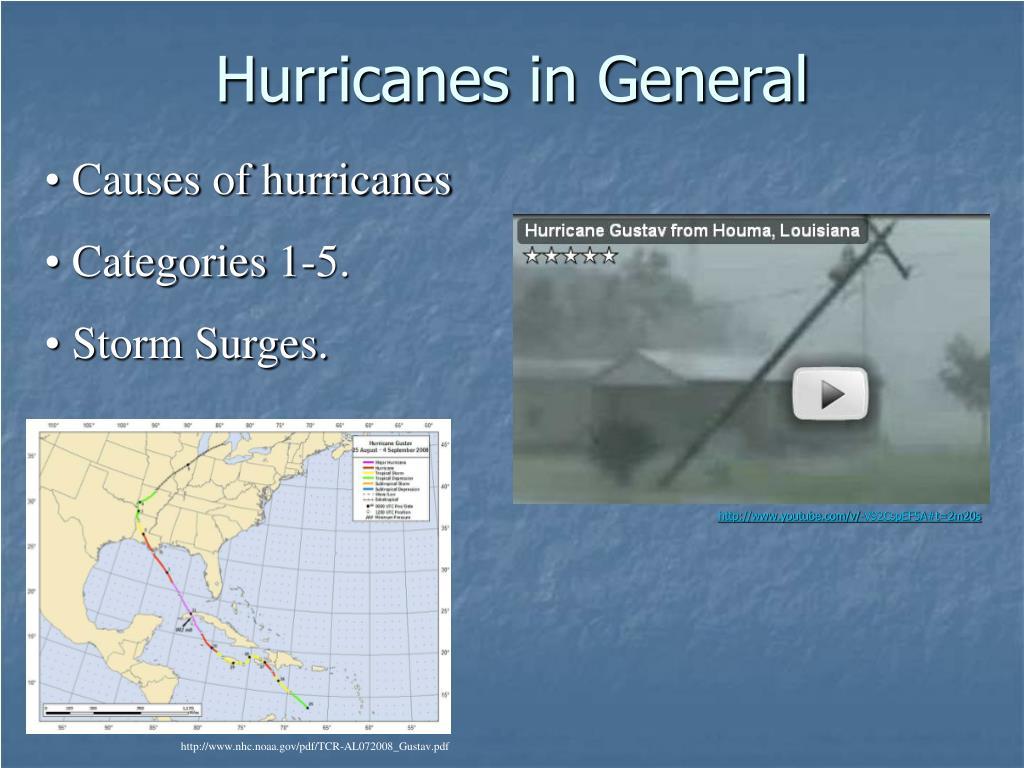 Hurricanes in General