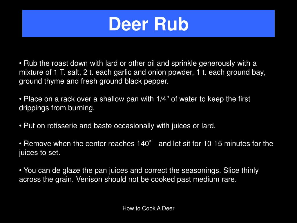 Deer Rub