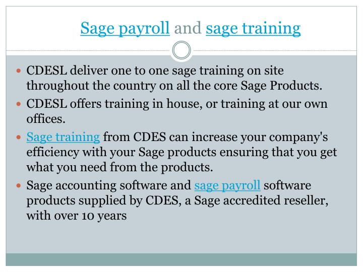 Sage payroll and sage training