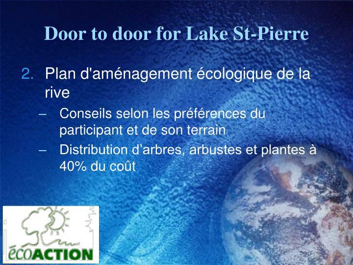 Door to door for Lake St-Pierre