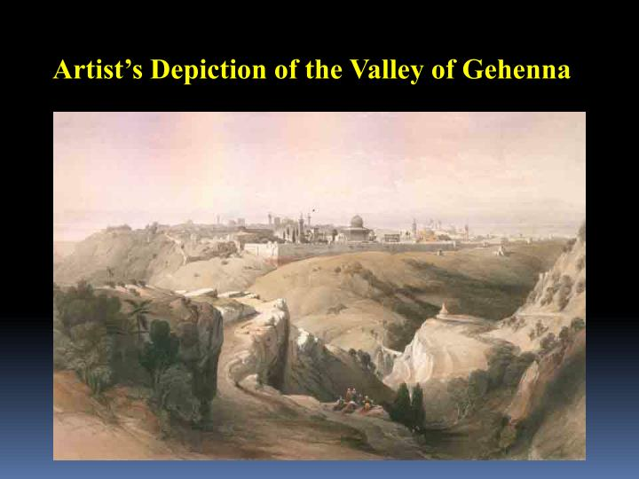 Artist's Depiction of the Valley of Gehenna