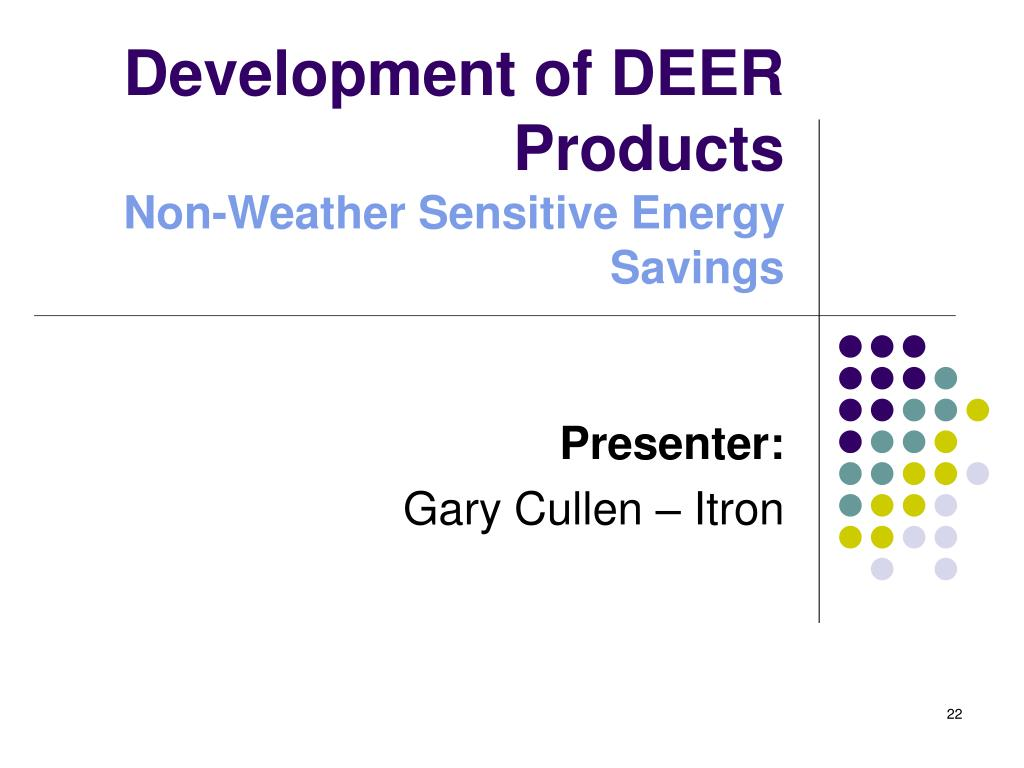Development of DEER Products