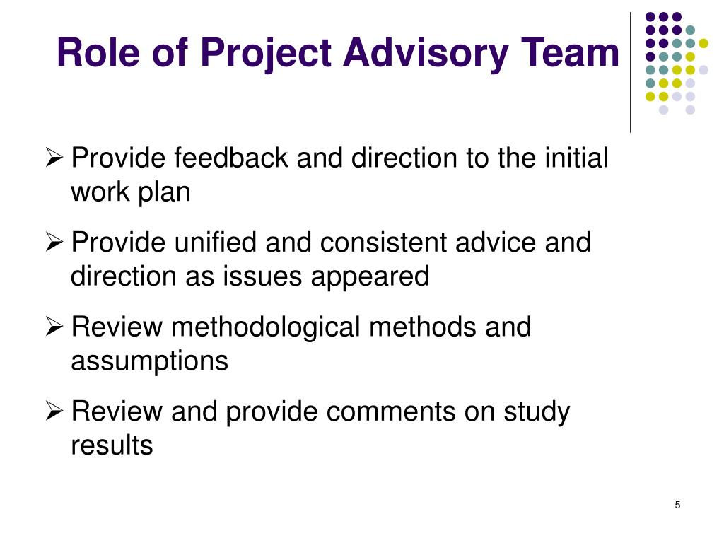 Provide feedback and direction to the initial work plan