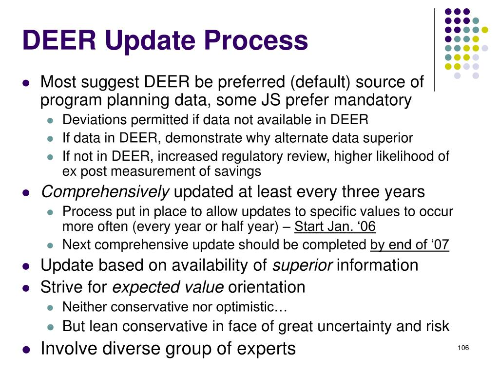DEER Update Process