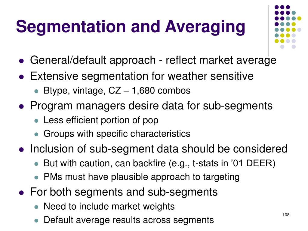 Segmentation and Averaging